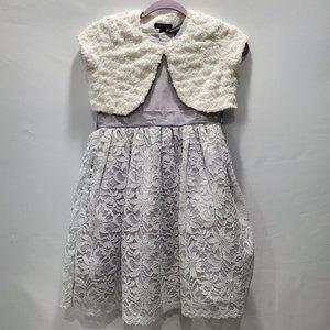 George Girls Size 10 Dress with Shrug P158
